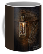 Vintage Lantern Hung In A Barn Coffee Mug