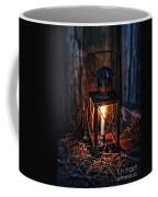 Vintage Lantern In A Barn Coffee Mug by Jill Battaglia