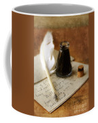 Vintage Letter And Quill Pen Coffee Mug
