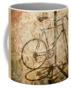 Vintage Looking Bicycle On Brick Pavement Coffee Mug