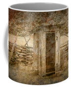 Vintage Looking Old Outhouse In The Great Smokey Mountains Coffee Mug