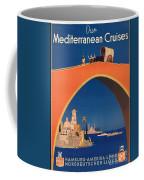 Vintage Mediterranean Travel Poster Coffee Mug