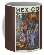 Vintage Mexico Travel Poster Coffee Mug