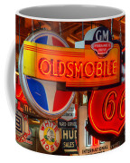 Vintage Neon Sign Oldsmobile Coffee Mug