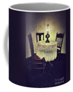 Vintage Table And Chairs By Oil Lamp Light Coffee Mug by Jill Battaglia