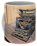 Vintage Typewriter Coffee Mug by Susan Leggett