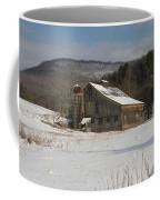 Vintage Weathered Wooden Barn Coffee Mug