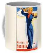 Vintage Winter In Austria Travel Poster Coffee Mug
