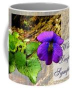 Violet Greeting Card  Sympathy Coffee Mug
