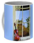 Violin On A Window Sill Coffee Mug