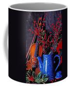 Violin With Blue Pot Coffee Mug