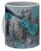 Violinelle - Turquoise 04d2 Coffee Mug by Variance Collections