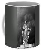 Virgin Mary And The Thunderstorm Bw Coffee Mug