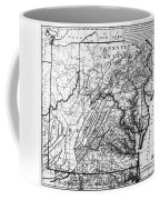 Virginia: Map, C1784 Coffee Mug