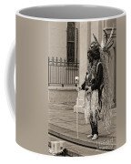 Voodoo Man In Jackson Square New Orleans- Sepia Coffee Mug