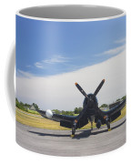 Vought F4u Corsair Fighter Plane On Runway Canvas Photo Poster Print Coffee Mug