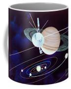 Voyager Saturn Flyby Artwork Coffee Mug