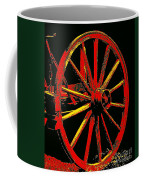 Wagon Wheel In Red Coffee Mug