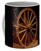 Wagon Wheel In Sepia Coffee Mug