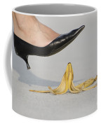 Walking On Banana Peel Coffee Mug