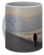 Walking On The Beach - Cape May Coffee Mug