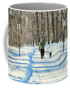 Walking The Dog Coffee Mug by Paul Ward