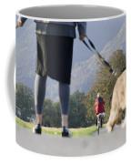 Walking With Her Dogs Coffee Mug