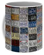 Wall Of License Plates Coffee Mug