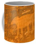 Wall Street Cliffs Petroglyph - Moab Coffee Mug