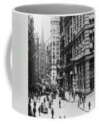 Wall Street Looking Toward Old Trinity Church - New York City - C 1910 Coffee Mug