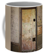 Walls With Graffiti In An Abandoned House. Coffee Mug
