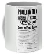Wanted Poster, 1881 Coffee Mug