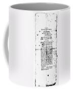 War Of 1812: Broadside Coffee Mug