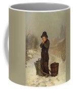 Warming His Hands Coffee Mug by Henry Bacon
