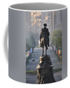 Washington Looking Down The Parkway - Philadelphia Coffee Mug by Bill Cannon