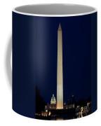 Washington Monument At Night Coffee Mug
