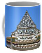 Wat Ratcha Orasaram Temple Gate And Ubosot Gable Dthb858 Coffee Mug
