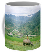 Water Buffalo Boy Coffee Mug