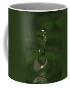 Water Drop Abstract Green 19 Coffee Mug