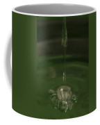Water Drop Abstract Green 23 Coffee Mug