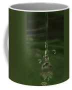 Water Drop Abstract Green 24 Coffee Mug