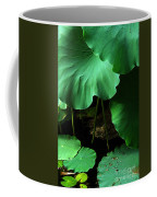 Water Lilies Of Green Coffee Mug