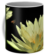 water lily 3 Yellow Water Lily with Bee Coffee Mug
