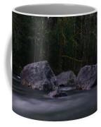 Water Moving Around Rock Coffee Mug