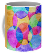 Watercolor Circles Abstract Coffee Mug