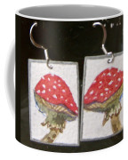 Watercolor Earrings Amanita Coffee Mug