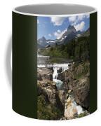 Waterfall At Many Glacier Coffee Mug