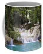 Waterfall In Deep Forest Coffee Mug by Setsiri Silapasuwanchai