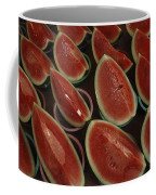 Watermelon Slices Sold At A Market Coffee Mug by Todd Gipstein