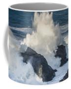 Wave Meets Seastack Coffee Mug